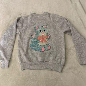Vintage bear crew neck sweater